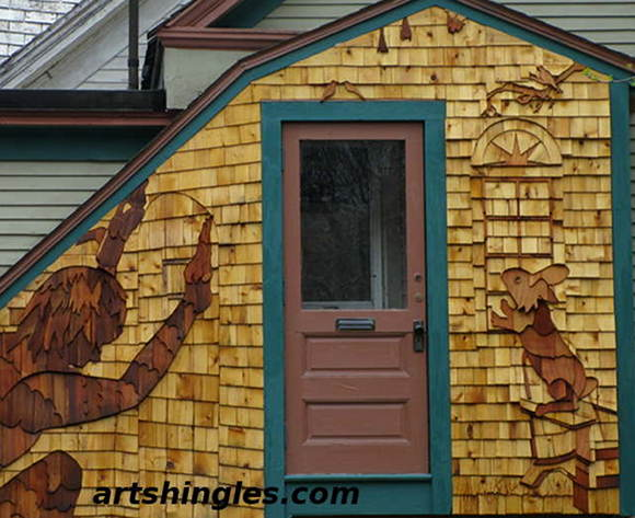 Bunny Peaking in the Window. \  & Art of Shingling: Adding Style to your Walls and Roofs