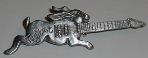 TagYerit Rabbit Guitar Pin in pewter