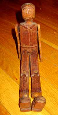 Limber Jack made from old tool handles