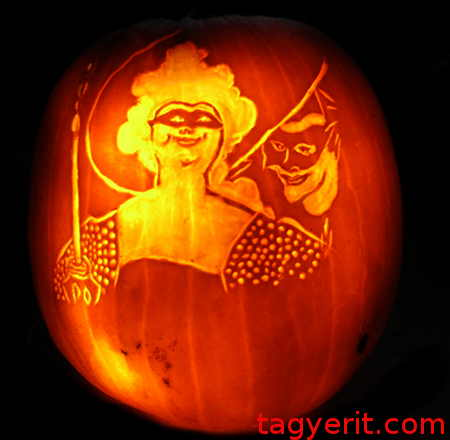 Beardsley's Masquerade Lit Pumpkin