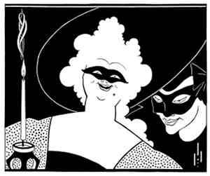 Masquerade by Aubrey Beardsley