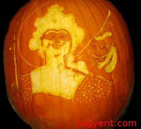 Beardsley's Masquerade Pumpkin Unlit