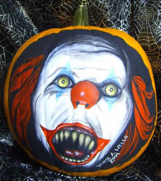 Our favorite bestest carved pumpkin picks from 2009 for Clown pumpkin painting