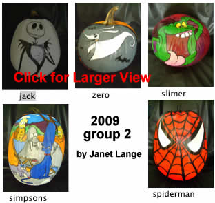 Jack Skellington zero slimer simpsons spiderman pumpkin