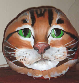JN's Cat Pumpkin - front view