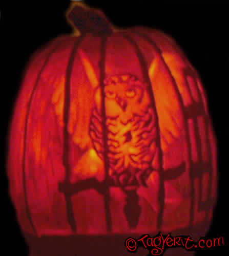 Trick or treat pumpkin stencils
