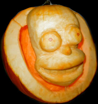 Our favorite pumpkin carvings from 2002 to 2004 favorite photo two views of jms homer simpson see shrek below for more of jms handiwork 2004 pronofoot35fo Image collections