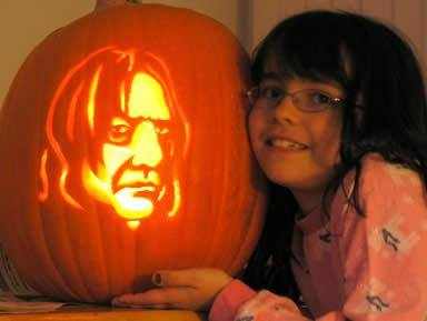 snape pumpkin carving template.