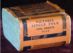 125 Year Old Antique Victoria Toilet Tissue Paper