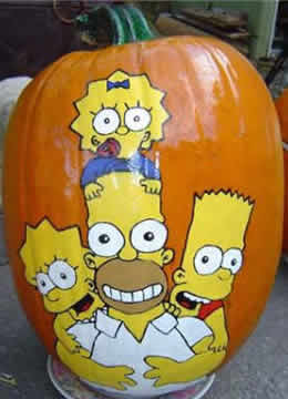 Maggie, Homer, Bart & Lisa Simpson