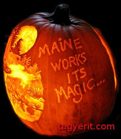 Maine Works Its Magic Pumpkin