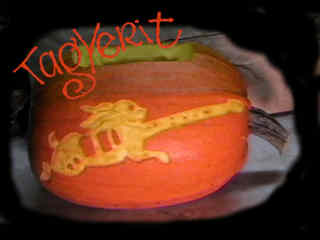 Pumpkin logo - Rabbit guitar