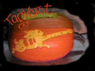 Pumpkin logo - Rabbit guitar